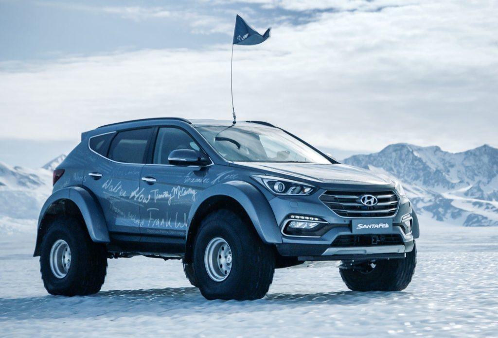 Hyundai Santa Fe alla conquista dell'Antartide sulle orme di Shackleton [FOTO e VIDEO]