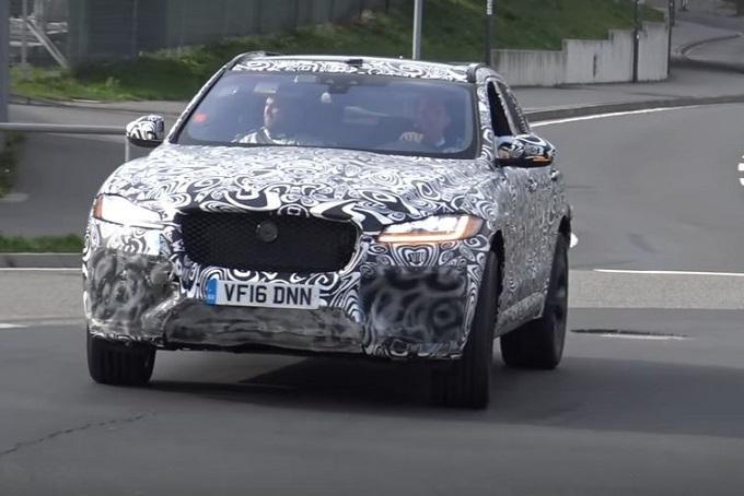 Jaguar F-Pace SVR: nuovo avvistamento al Nürburgring [VIDEO SPIA]