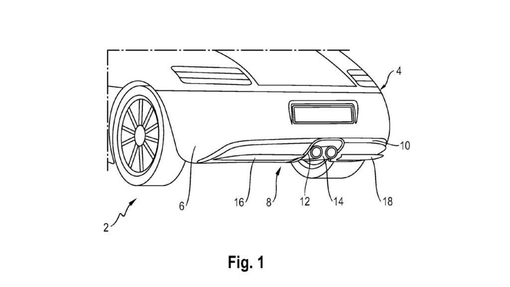Porsche: brevetto per un diffusore posteriore attivo