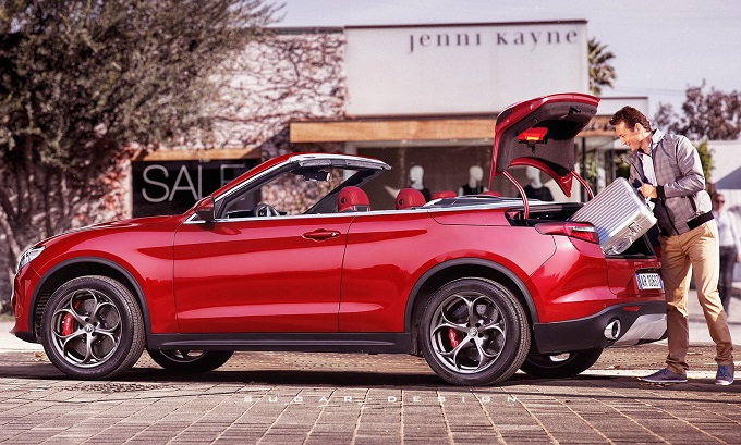 Alfa Romeo Stelvio Cabrio: ipotesi stilistica del SUV senza tetto [RENDERING]