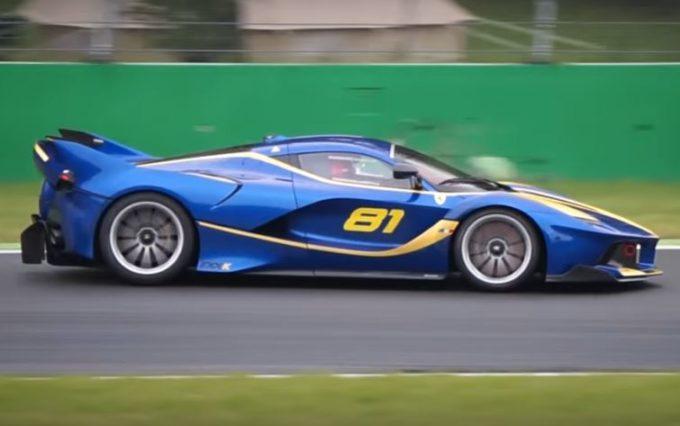 Ferrari FXX K: concerto di V12 all'Autodromo di Monza [VIDEO]