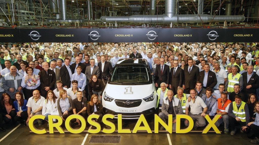 Opel Crossland X: al via la produzione a Saragozza