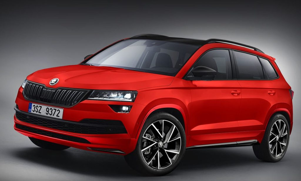 skoda karoq in duplice abito sportivo immaginando le versioni rs e monte carlo rendering. Black Bedroom Furniture Sets. Home Design Ideas