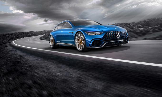 Mercedes AMG GT Concept: ipotesi delle varianti Shooting Brake e Cabrio [RENDERING]