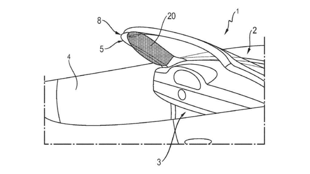 Porsche: brevetto per un airbag nel montante A