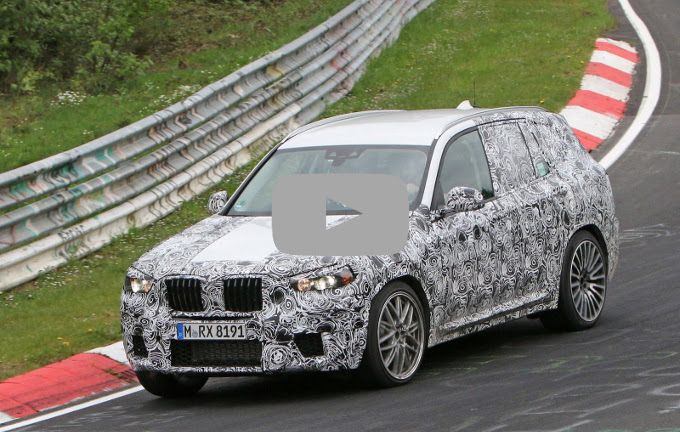 Nuova BMW X3 M: al via i test al Nurburgring [VIDEO SPIA]