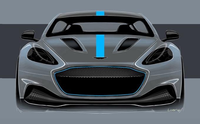 Aston Martin RapidE, confermato il modello elettrico di serie: debutterà nel 2019 [RENDERING]