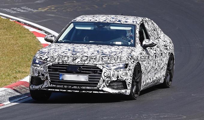 Audi A6 2018: nuove testimonianze dello sviluppo al Nürburgring [FOTO SPIA]