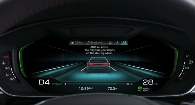 Nuova Audi A8 per le prove di guida di Spiderman [VIDEO TEASER]