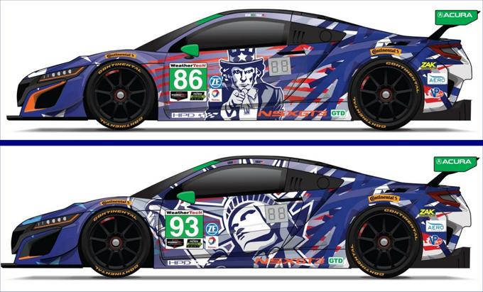 Acura NSX GT3: livree patriottiche in vista della 6 Ore di Watkins Glen