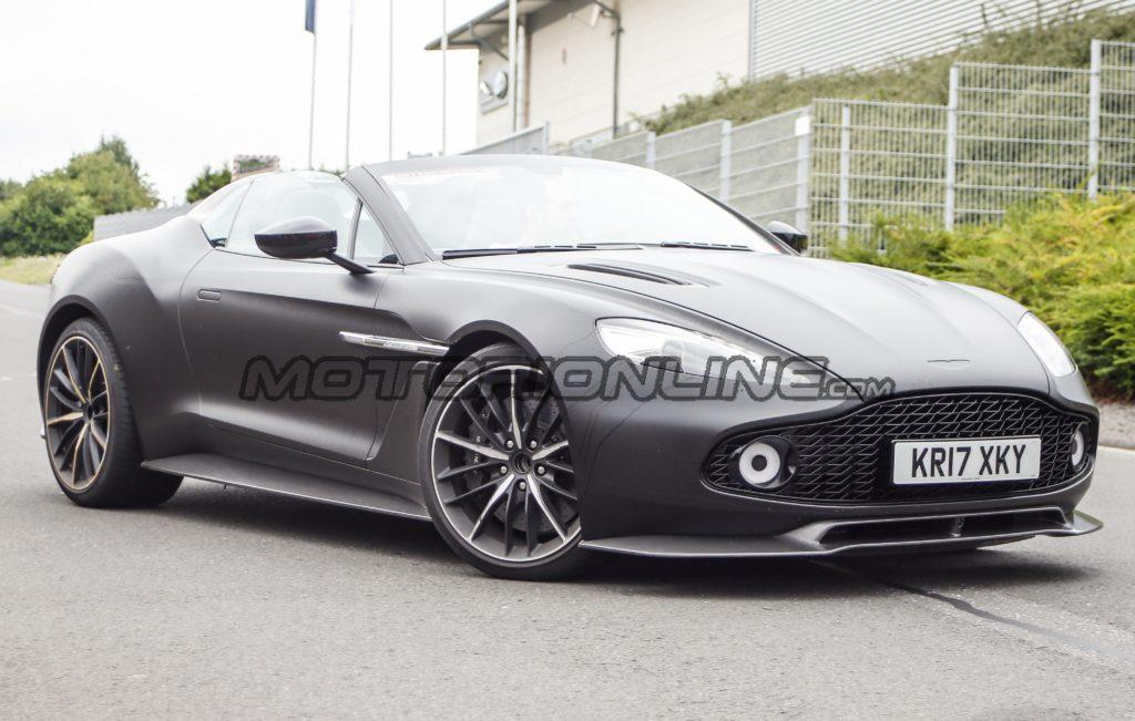 Aston Martin Vanquish Zagato Speedster avvistata in pista [FOTO e VIDEO SPIA]