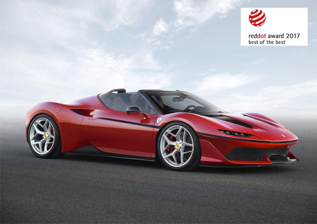 """La Ferrari ha conquistato il """"Red Dot Best of the Best"""" design award per il terzo anno consecutivo"""