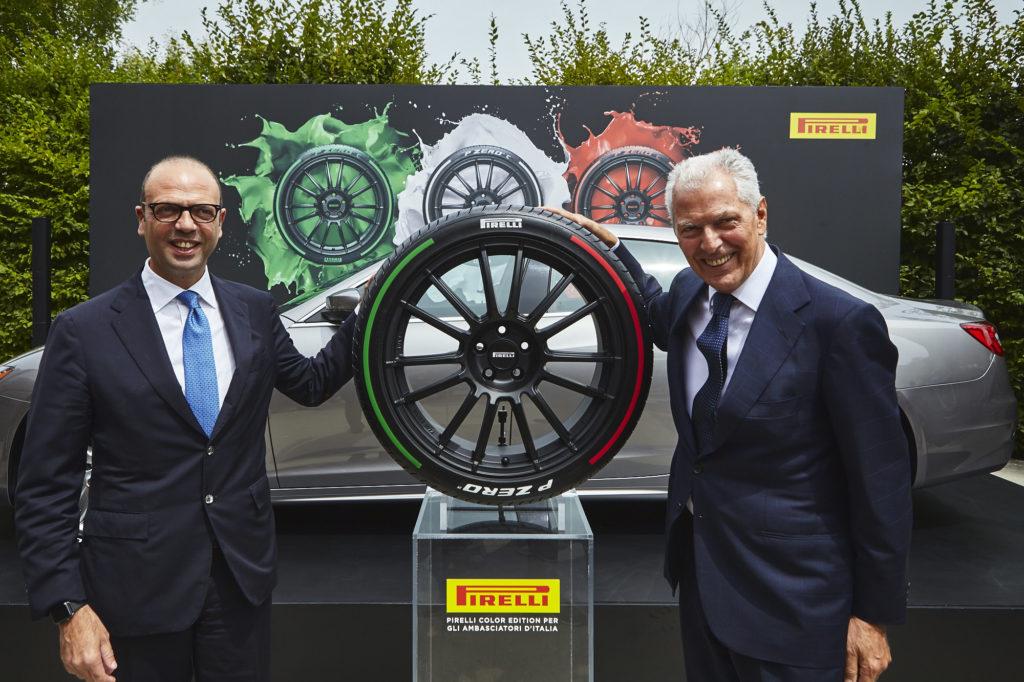 Pirelli a fianco degli ambasciatori italiani con gli pneumatici Tricolore