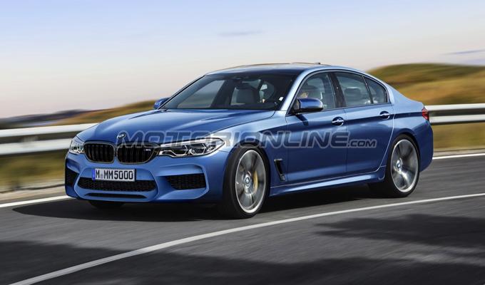BMW M5 2018: un'idea dell'attesa berlina sportiva bavarese [RENDERING]