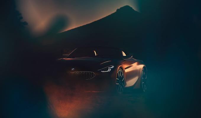 BMW Z4 Concept: un accenno prima del debutto al Concorso d'Eleganza di Pebble Beach