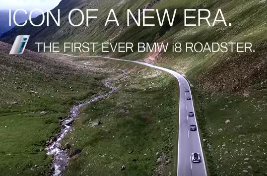 BMW i8 Roadster: ecco la sportiva a cielo aperto con tecnologia plug-in hybrid [VIDEO TEASER]