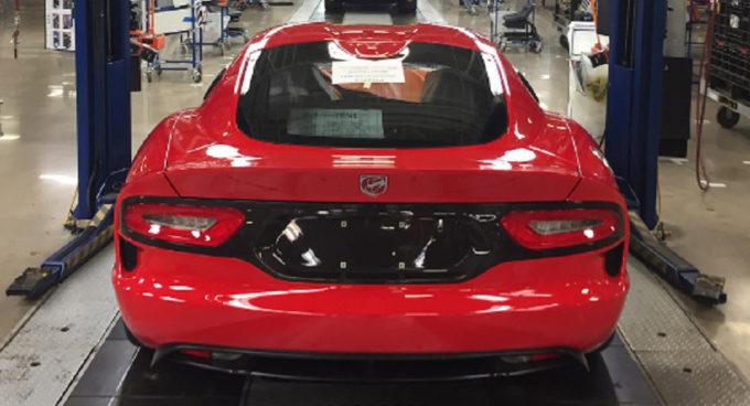 Dodge Viper: prodotto l'ultimo esemplare della supercar americana