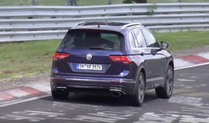 Volkswagen Tiguan R 2018: potrebbe essere spinto da un motore cinque cilindri? [VIDEO SPIA]
