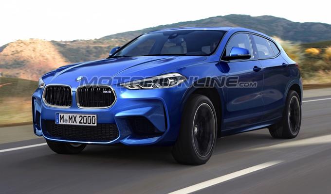 BMW X2 M: un'ipotesi della versione più potente del futuro SUV bavarese [RENDERING]