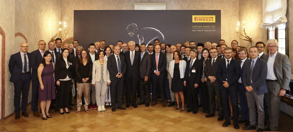 Pirelli Supplier Award 2017: la P lunga premia i fornitori eccellenti