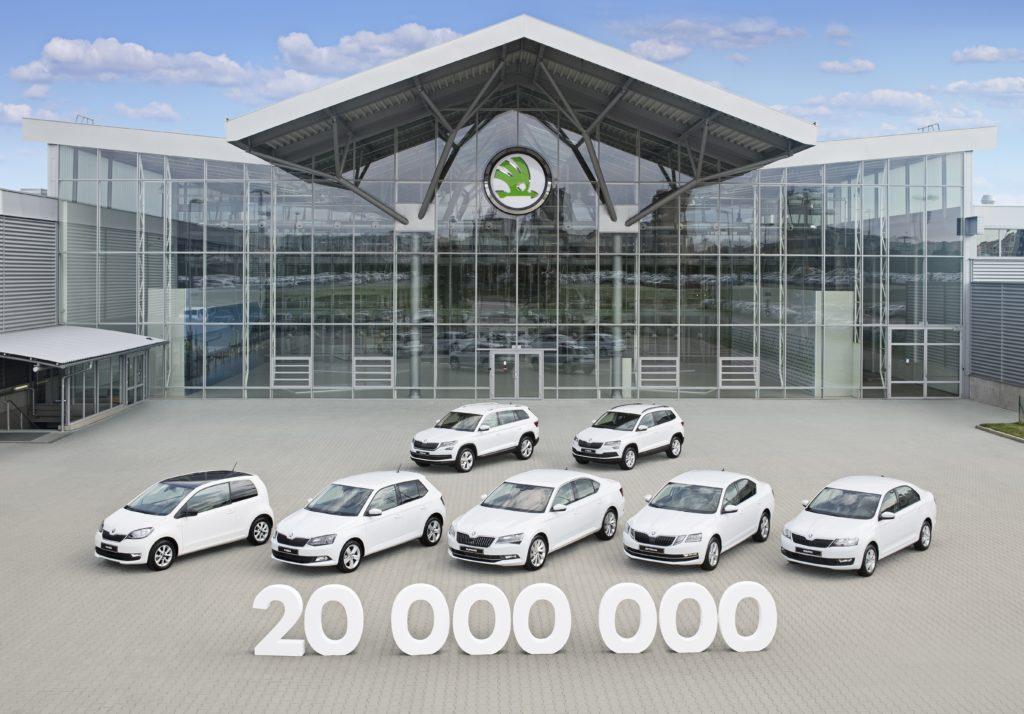 Skoda: raggiunto lo storico traguardo dei 20 milioni di auto prodotte