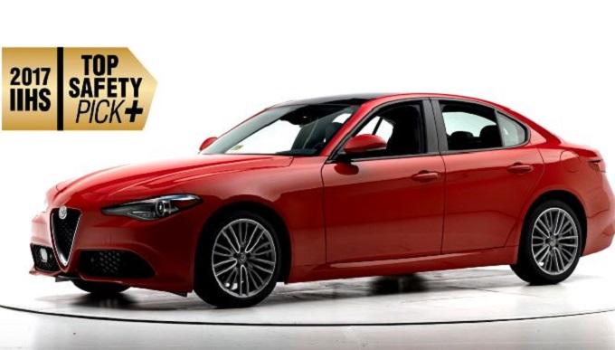 Alfa Romeo Giulia, sicurezza top anche negli USA: suo il Top Safety Pick+ [VIDEO]