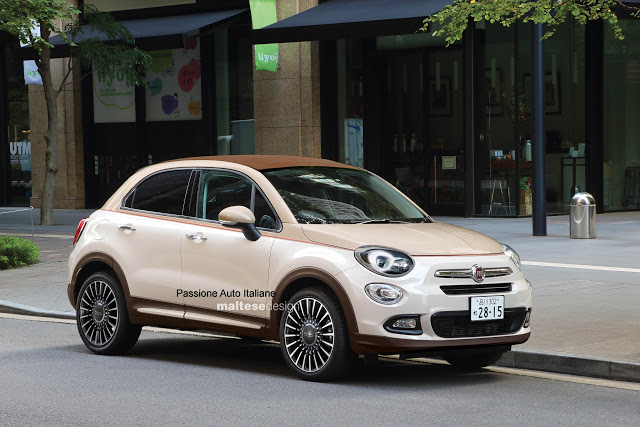 fiat 500x cabrio il crossover italiano si scopre rendering. Black Bedroom Furniture Sets. Home Design Ideas