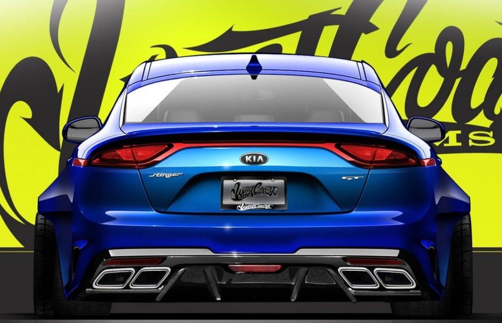 Kia Stinger GT, elaborazione estrema per il SEMA 2017 [TEASER]