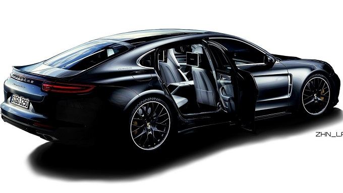 porsche panamera immaginata come una berlina 4 porte. Black Bedroom Furniture Sets. Home Design Ideas