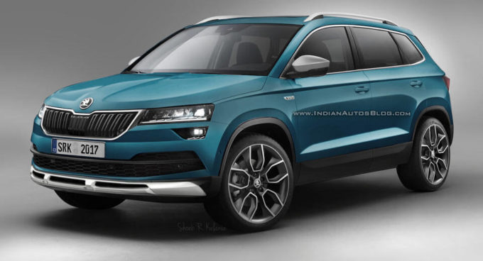 skoda karoq scout sar cos la versione off road rendering. Black Bedroom Furniture Sets. Home Design Ideas