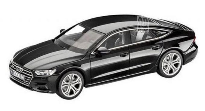 Audi A7 Sportback: il nuovo modello è stato svelato da un modellino in scala