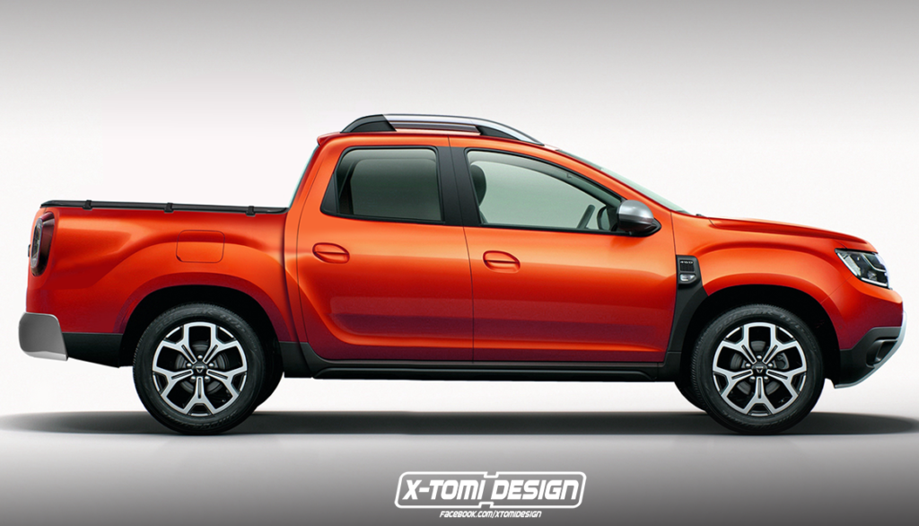 dacia duster pick up potrebbe sostituire la renault oroch rendering. Black Bedroom Furniture Sets. Home Design Ideas
