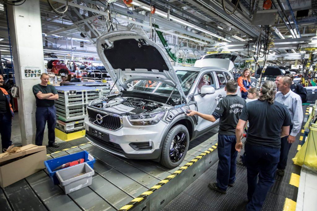 Volvo XC40: il primo esemplare è uscito dallo stabilimento di Ghent in Belgio
