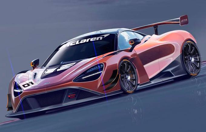 McLaren 720S GT3: diffusi in rete i primi bozzetti della variante da corsa