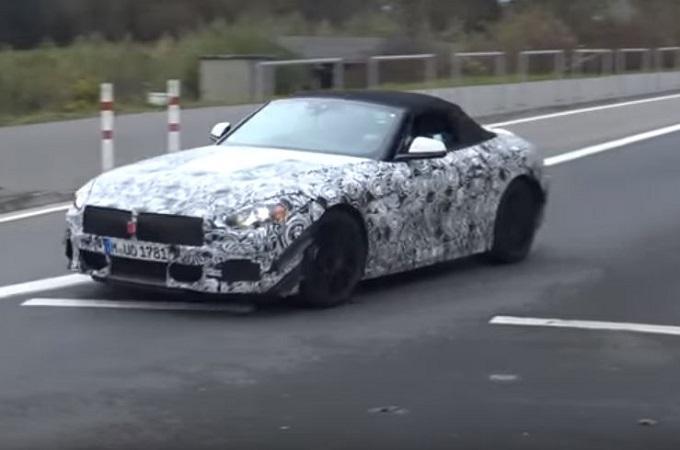 BMW Z4 MY 2019, proseguono i test al Nurburgring [VIDEO SPIA]