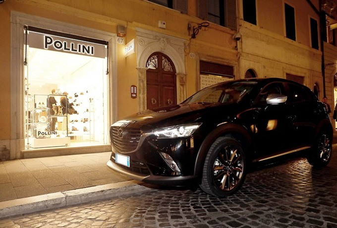 Mazda CX-3 Limited Edition in Partnership with Pollini protagonista a Roma