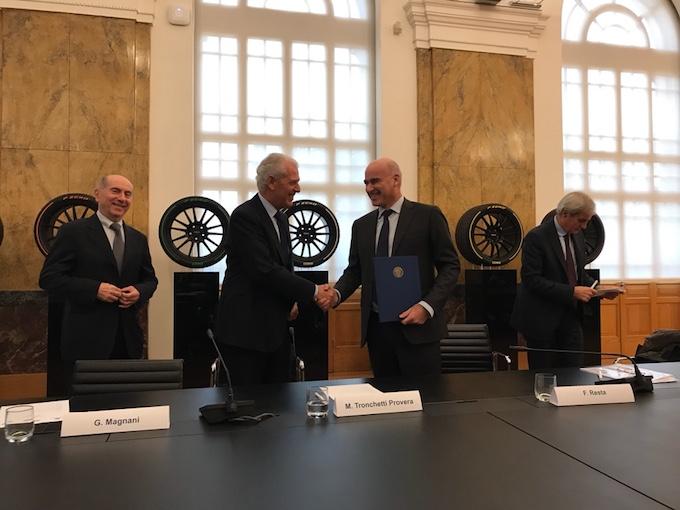 """Pirelli e Politecnico di Milano rinnovano il programma """"Joint Labs"""""""