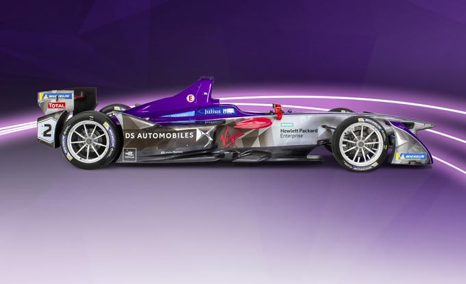 La Formula E si tinge viola, DS Virgin presenta la nuova DSV-03