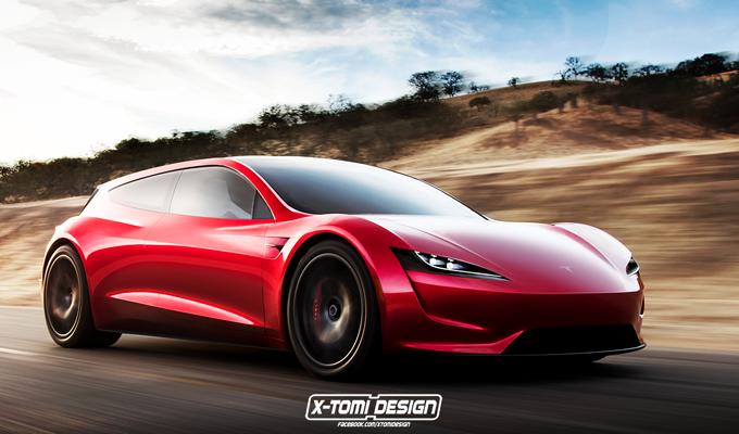 Tesla Roadster: immaginata un'ipotetica variante Shooting Brake [RENDERING]