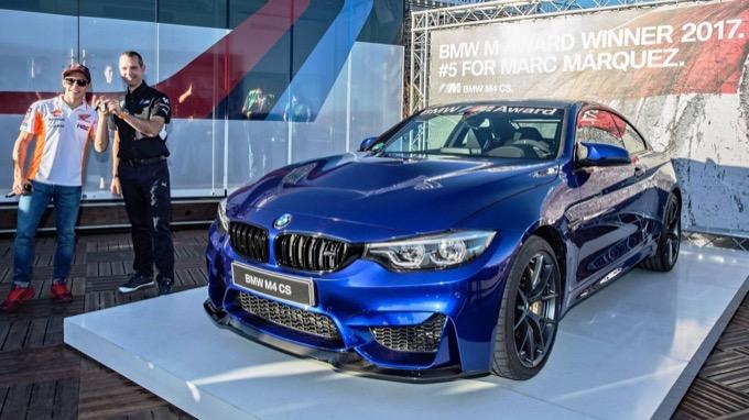 Marc Marquez, regalo da BMW: una fiammante M4 CS