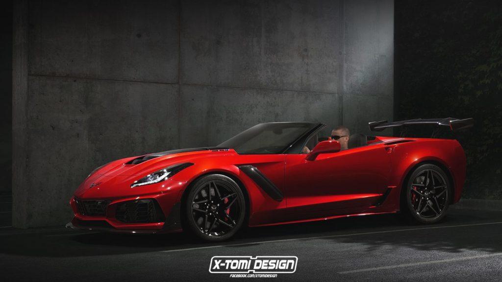 Chevrolet Corvette ZR1 Convertible: in arrivo la variante a cielo aperto? [RENDERING]