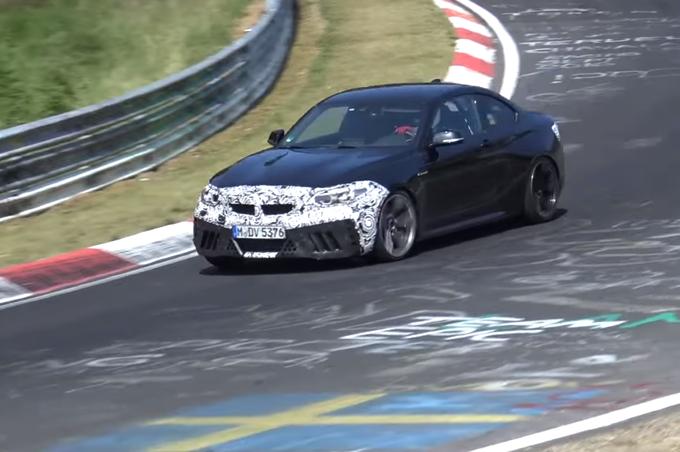 BMW M2 CS: proseguono i test al Nurburgring [VIDEO SPIA]