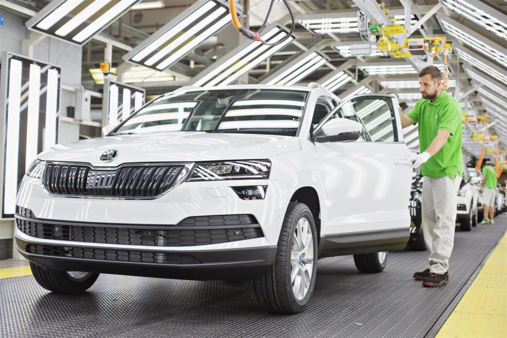 Skoda ha già prodotto 1 milione di auto nel 2017