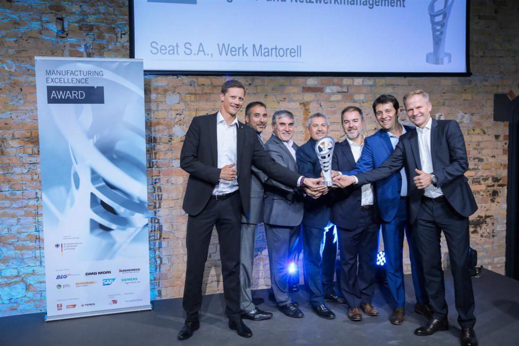 SEAT si è aggiudicata il Manufacturing Excellence Award 2017