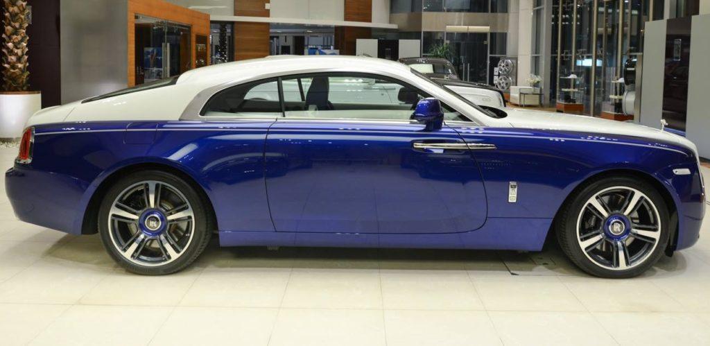Rolls-Royce Wraith Cobalto Blue English White