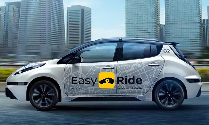 Nissan e DeNA presentano Easy Ride, il servizio di mobilità robotizzato