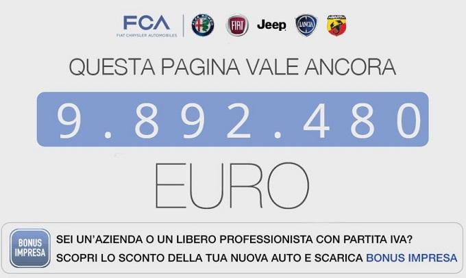 FCA lancia il Bonus Impresa: sconti fino a quasi 10.000 euro per aziende e partite IVA
