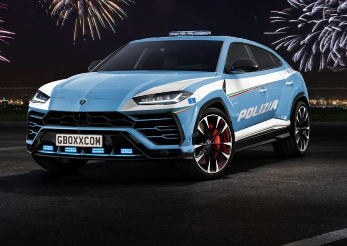 Lamborghini Urus Per La Polizia Ecco Come Si Presenterebbe Rendering