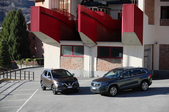 Nissan Qashqai e Skoda Kodiaq, la nostra comparativa [VIDEO PROVA SU STRADA]