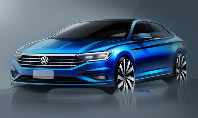 Volkswagen Jetta MY 2019: ecco il frontale della nuova generazione [TEASER]